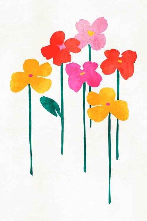 Ilustrace Little Happy Flowers