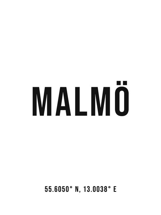 Umělecká fotografie Malmo simple coordinates