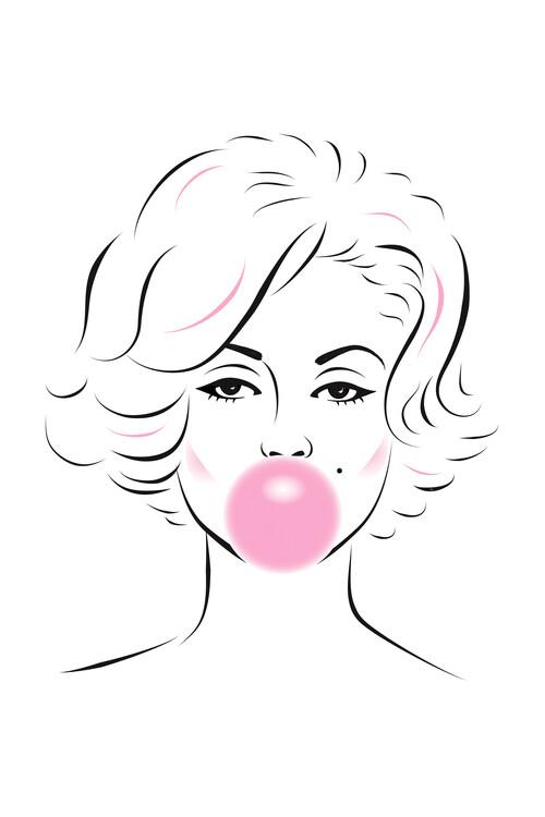 Εκτύπωση τέχνης κατόπιν ζήτησης Marilyn