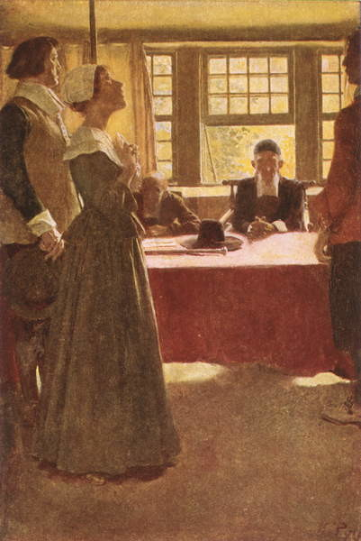 Reprodukcja Mary Dyer Brought Before Governor Endicott