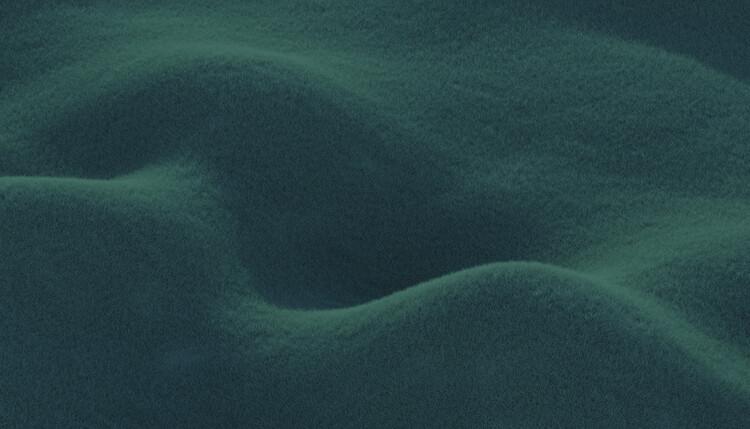 Umjetnička fotografija Minimal landscpases of a green grass at with a gradient sky series  2