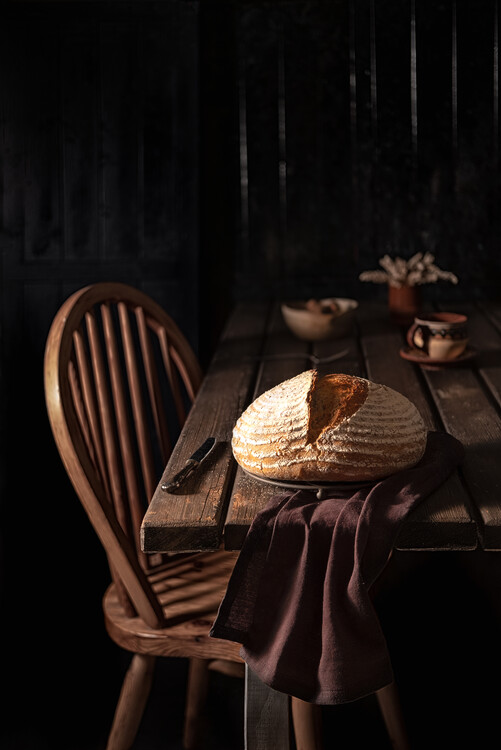 Photographie artistique Mixed flour country bread