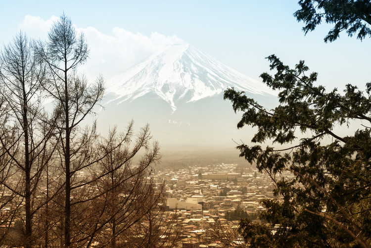 Umělecká fotografie Mt. Fuji
