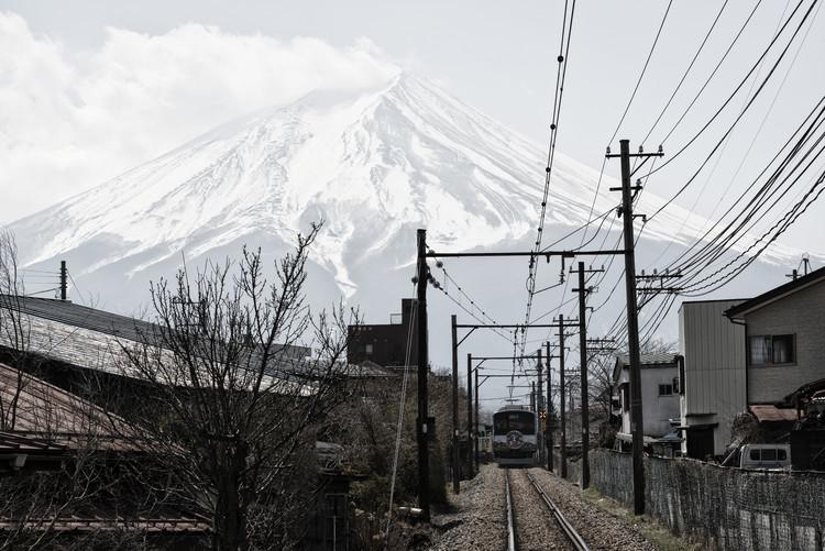 Umelecká fotografia Mt Fuji
