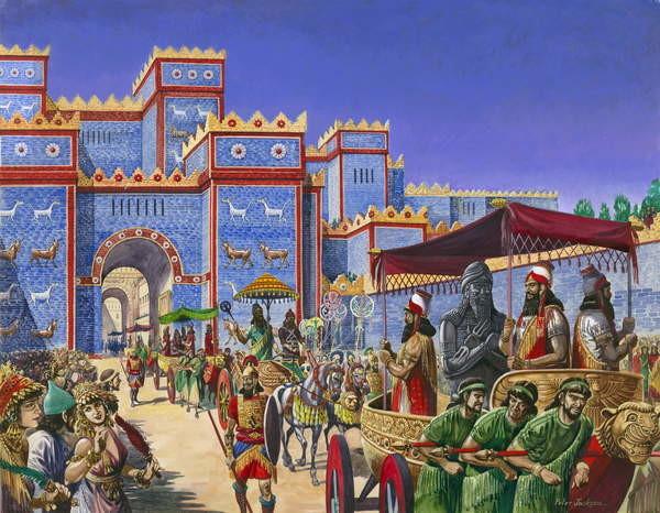Reproducción de arte New Year's Day in Babylon