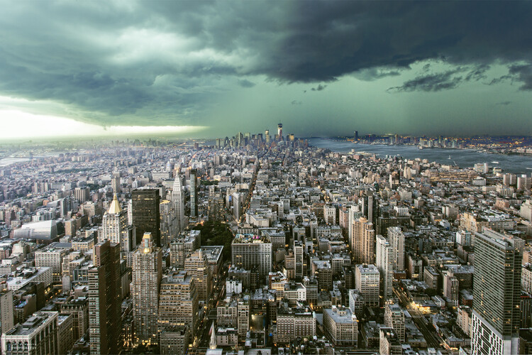 Kunstfotografi New-York under storm
