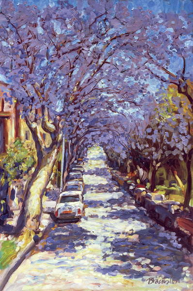 North Sydney Jacaranda, 1990 Canvas