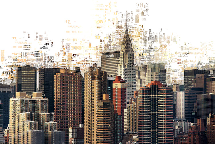 Fotografia artistica Numbers Collection - Manhattan Skyscrapers