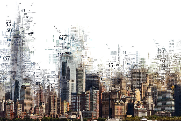 Fotografia artistica Numbers Collection - NY Skyline