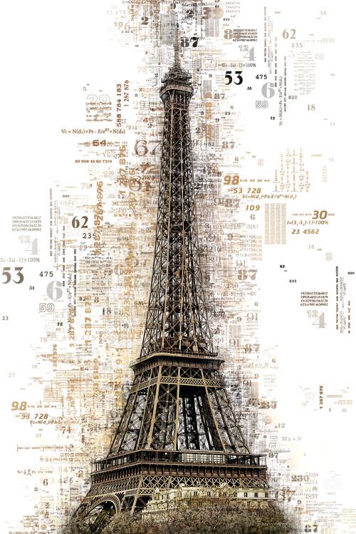 Fotografia artistica Numbers Collection - Paris Eiffel