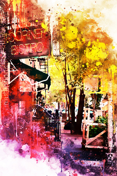 Umelecká fotografia NYC Watercolor 054