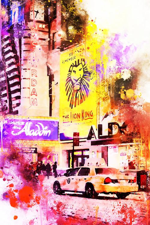 Umelecká fotografia NYC Watercolor 103