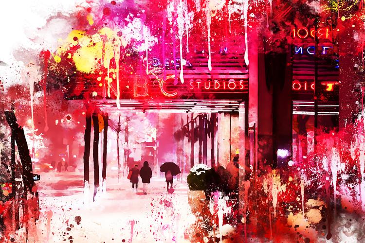 Εκτύπωση τέχνης κατόπιν ζήτησης NYC Watercolor 105