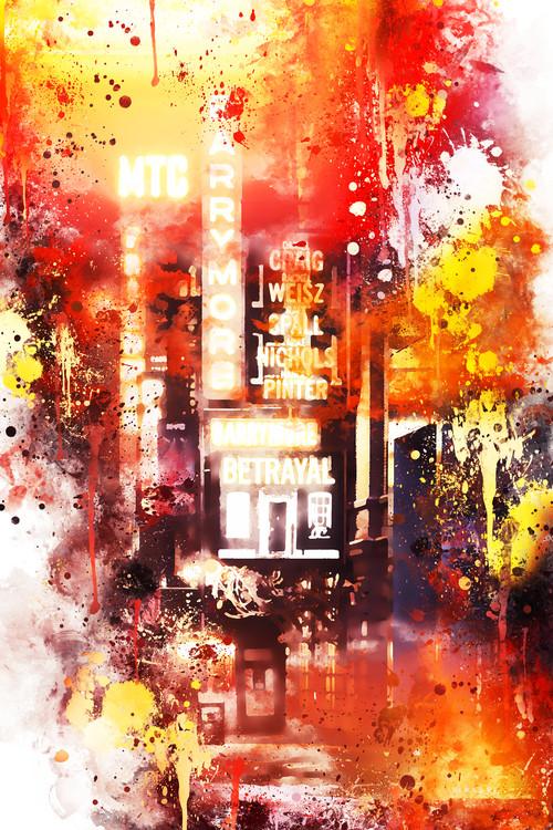 Εκτύπωση τέχνης κατόπιν ζήτησης NYC Watercolor 108