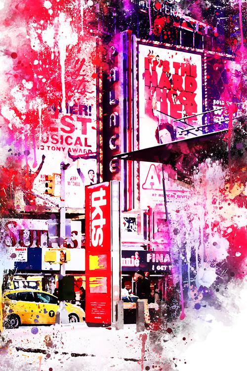 Umelecká fotografia NYC Watercolor 110