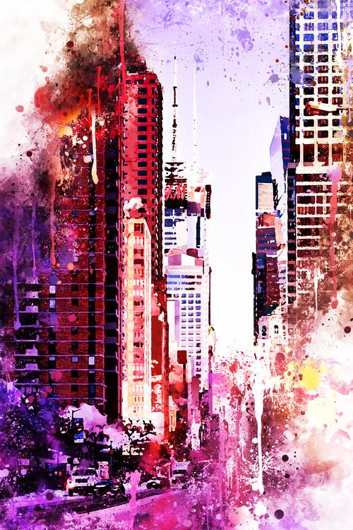 Umelecká fotografia NYC Watercolor 119