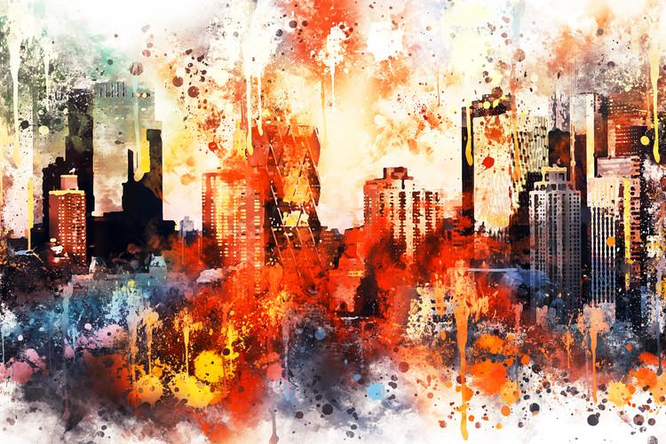 Umelecká fotografia NYC Watercolor 124