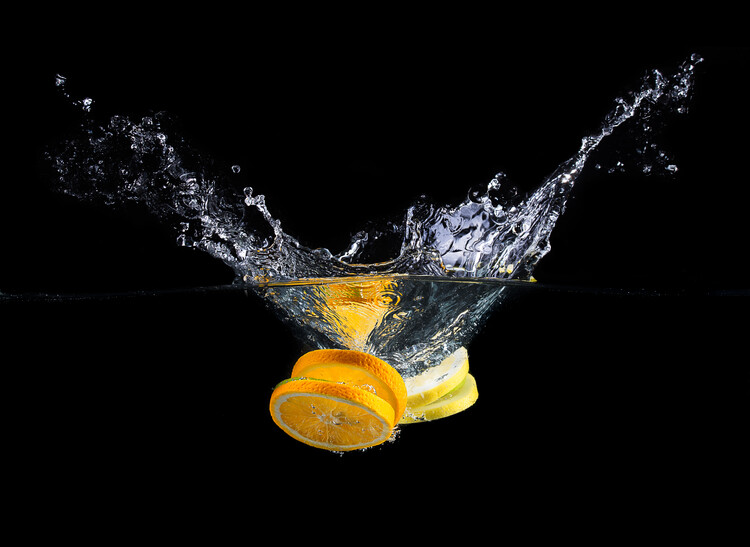Photographie artistique Orange splash