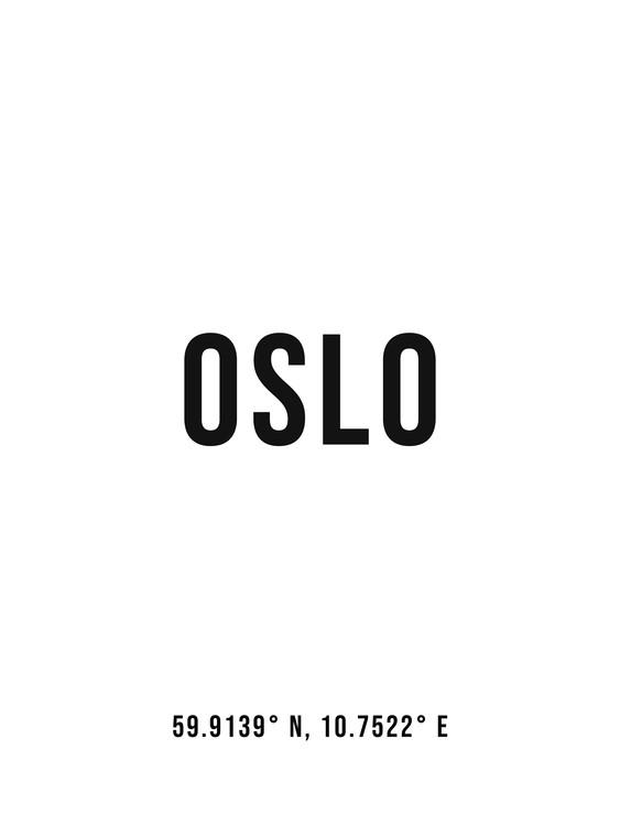 Umělecká fotografie Oslo simple coordinates