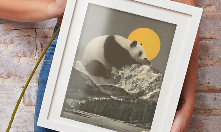 Obrazová reprodukce Panda's Nap into Mountains