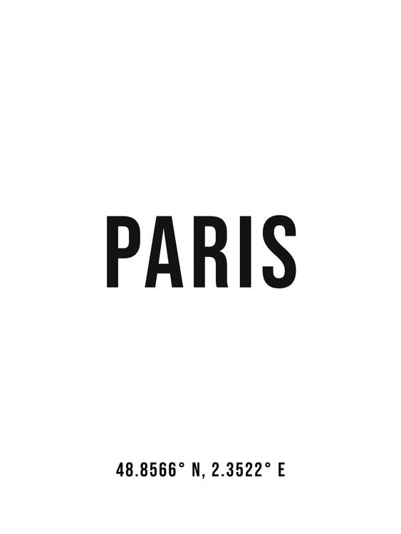 Arte fotográfico Paris simple coordinates