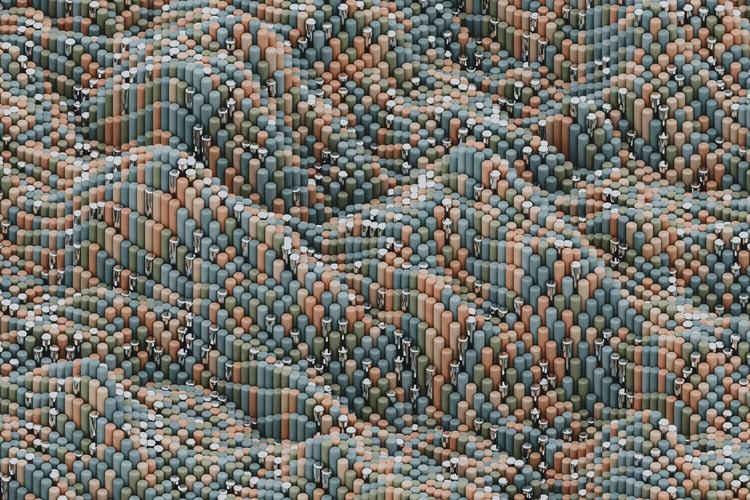 Художня фотографія Pattern of abstract relieve with geometric pieces series 1