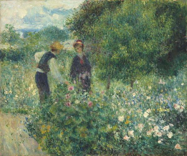 Obrazová reprodukce Picking Flowers, 1875