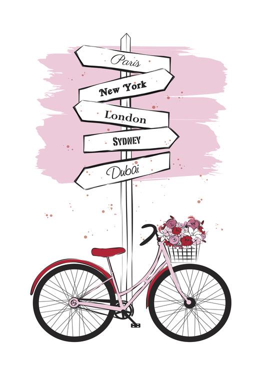 Umělecká fotografie Pink Bike