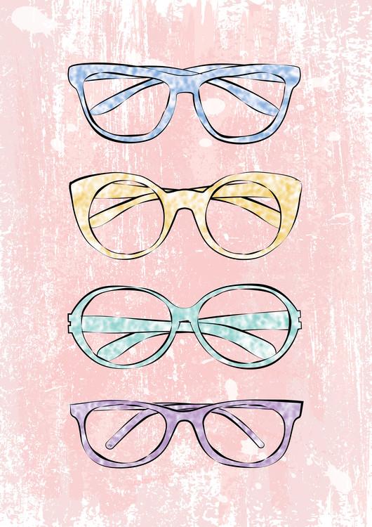 Ilustrace Pink Glasses