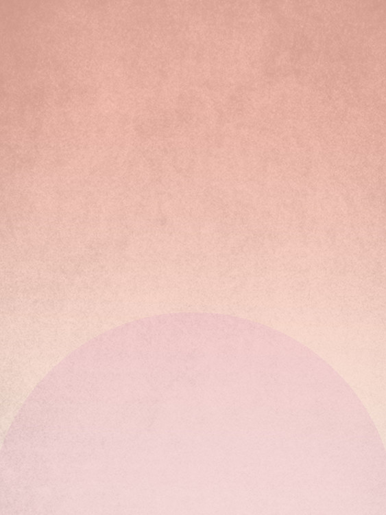 Kunstfotografie planet pink sunrise
