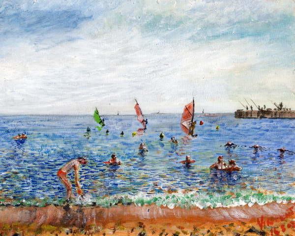 Obrazová reprodukce  Poblenou Beach Barcelona, 2002,