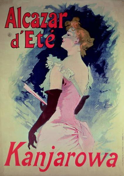 Obraz na plátně  Poster advertising Alcazar d'Ete starring Kanjarowa