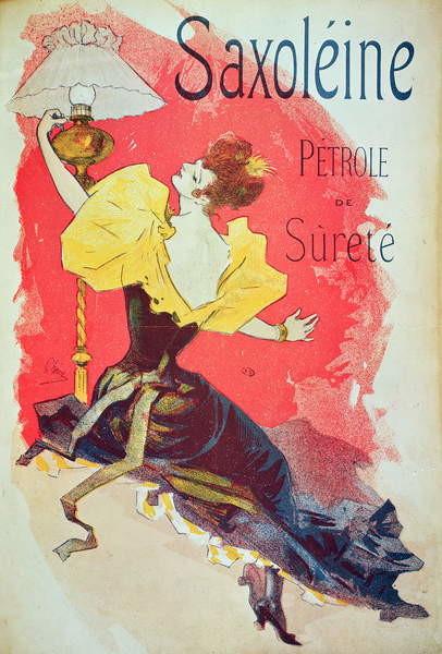 Obrazová reprodukce Poster advertising 'Saxoleine', safety lamp oil