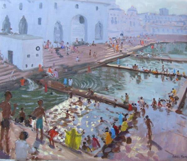 Obrazová reprodukce  Pushkar ghats, Rajasthan