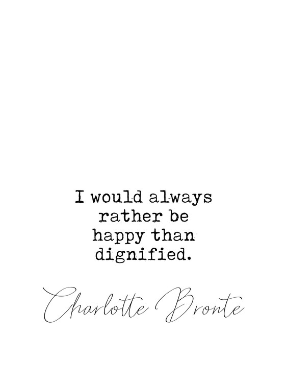 Photographie d'art Quote Bronte