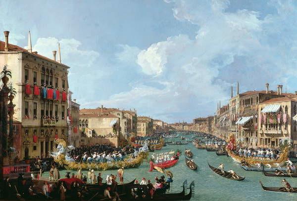 Stampa artistica Regatta on the Grand Canal