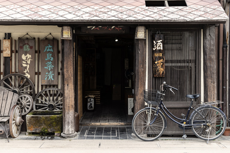 Umělecká fotografie Sake Shop