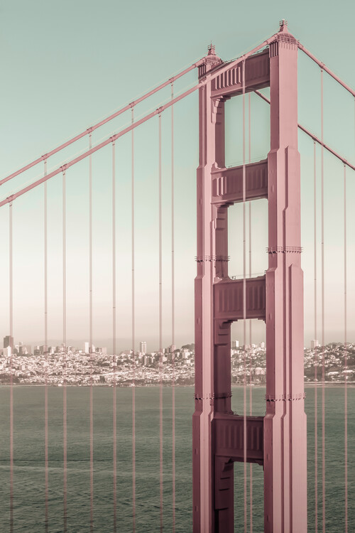 Fotografia artistica SAN FRANCISCO Golden Gate Bridge | urban vintage style