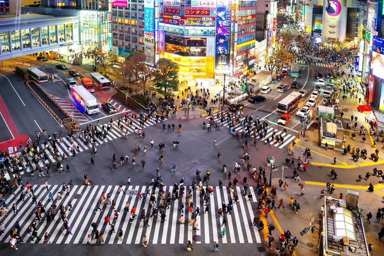Umelecká fotografia Shibuya Crossing Tokyo