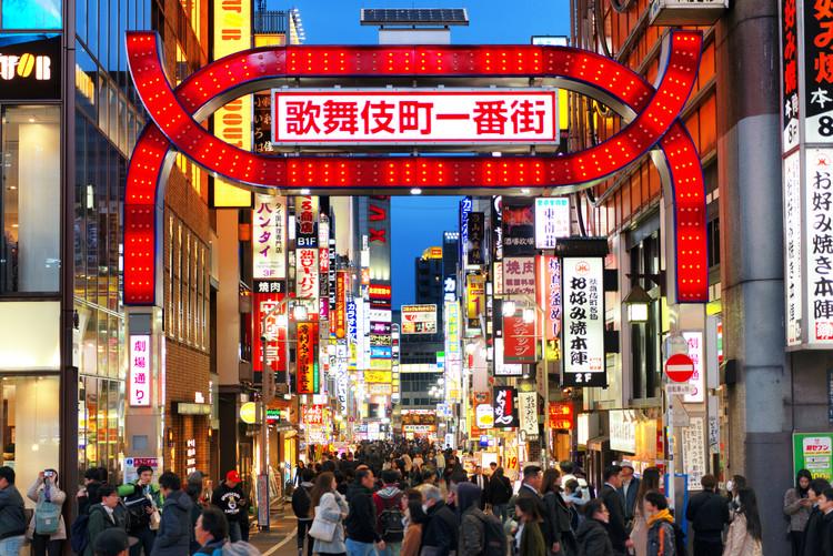 Umělecká fotografie Shinjuku Tokyo