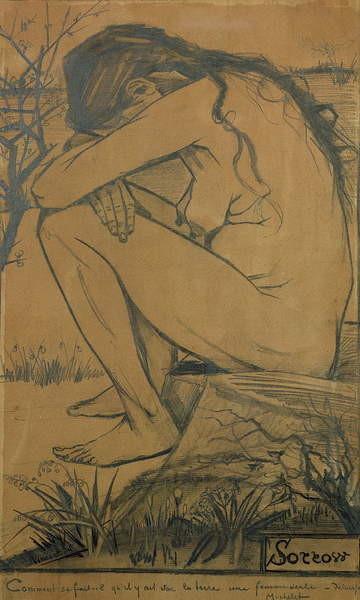 Obrazová reprodukce Sorrow, 1882