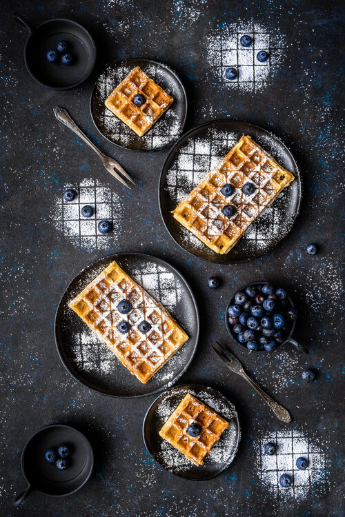 Konstfotografering Sourdough waffles