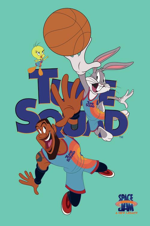 Plakat Space Jam 2 - Tune Squad blue
