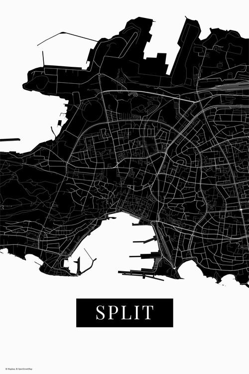 Mapa Split black