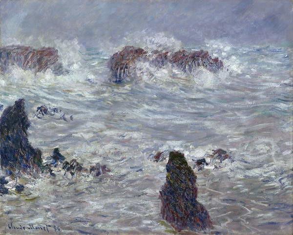 Obrazová reprodukce Storm, off the Coast of Belle-Ile, 1886