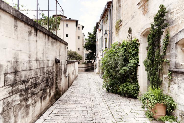 Umělecká fotografie Street Scene in Uzès