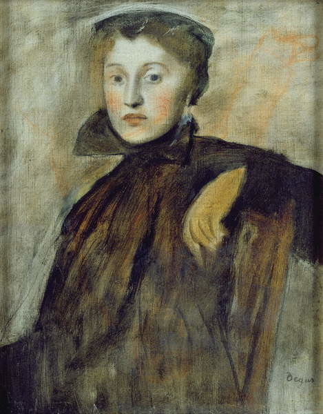 Study for a Portrait of a Lady, 1867 (oil on canvas) Kunstdruck