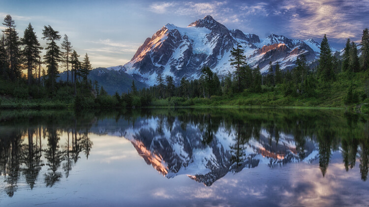 Kunstfotografie Sunrise on Mount Shuksan