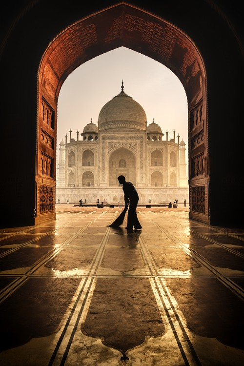 Photographie d'art taj mahal cleaner