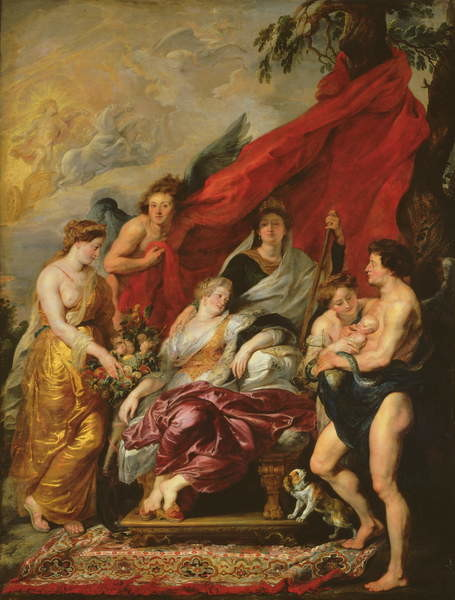 Obrazová reprodukce  The Birth of Louis XIII (1601-43) at Fontainebleau, 27th September 1601, from the Medici Cycle, 1621-25